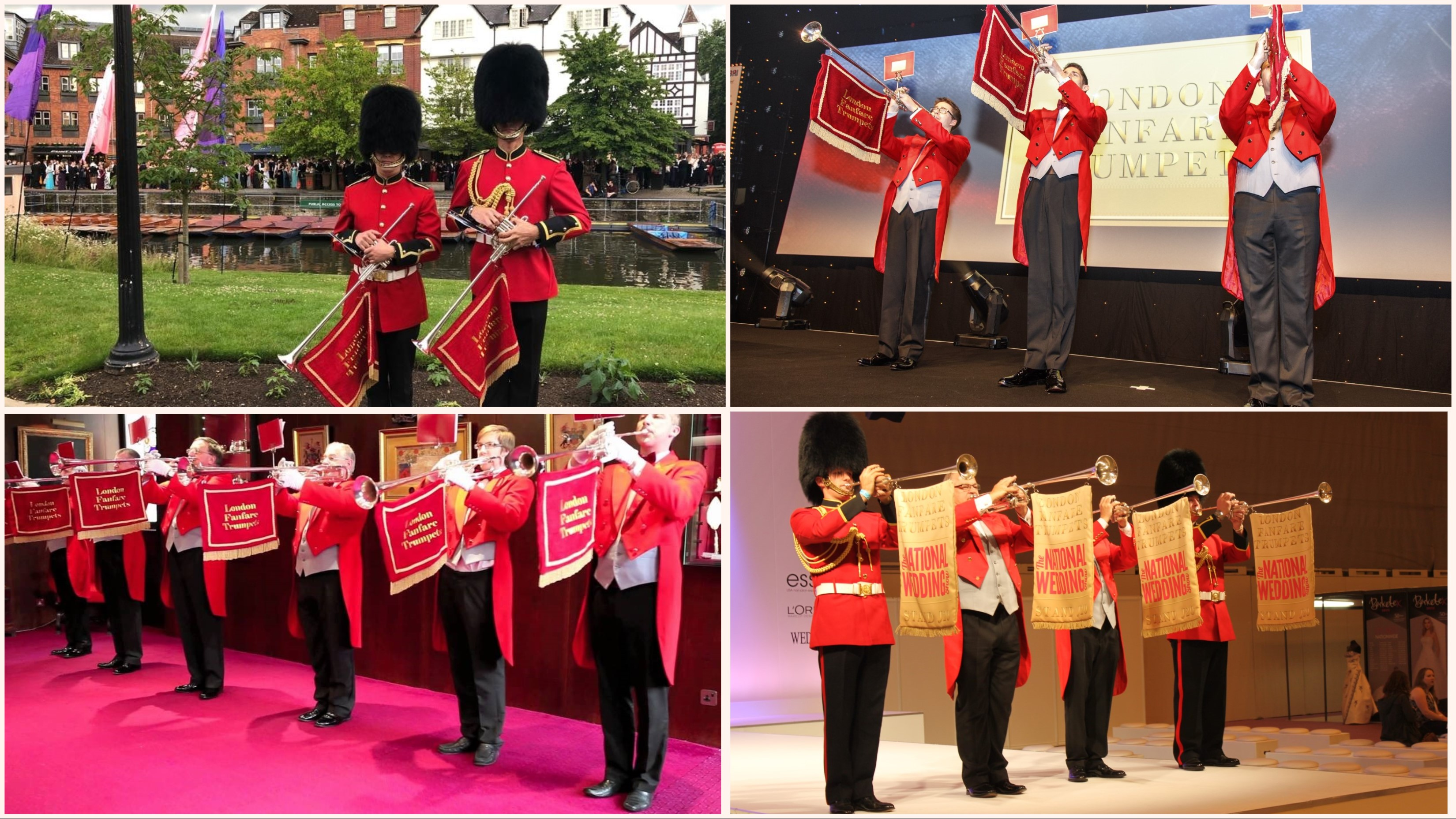 Fanfare Trumpeters excellent for Weddings and Event Announcements