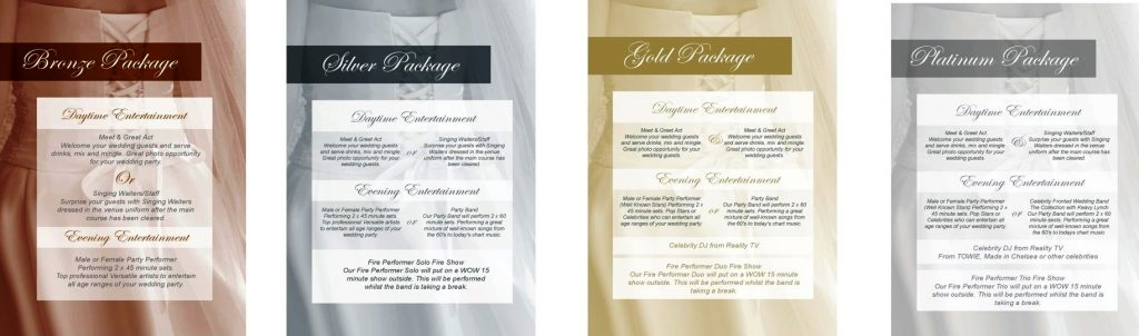 High-End & Luxury Wedding Entertainment Packages
